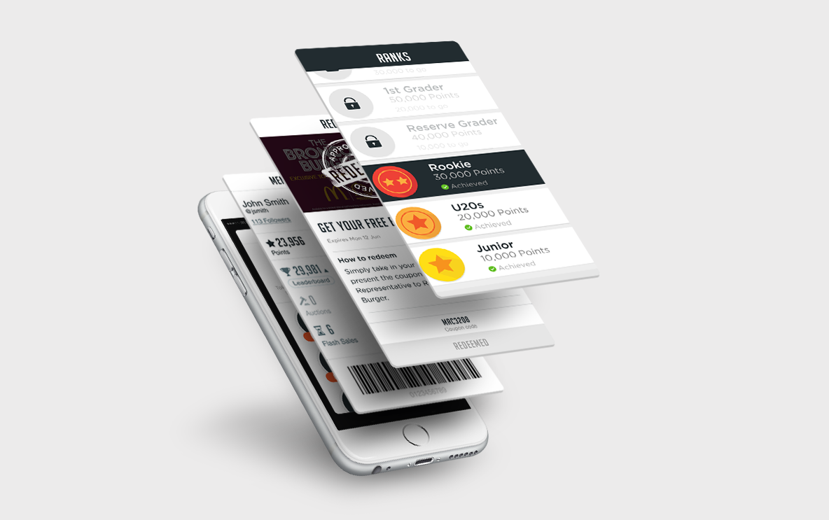 Mobile loyalty cards, mobile gamification and digital wallets