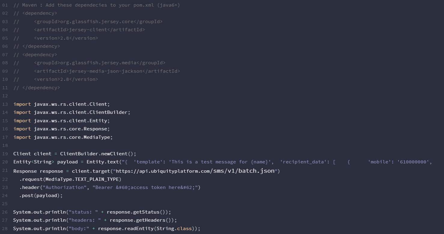 SMS-API-JAVA-Ubiquity-Platform