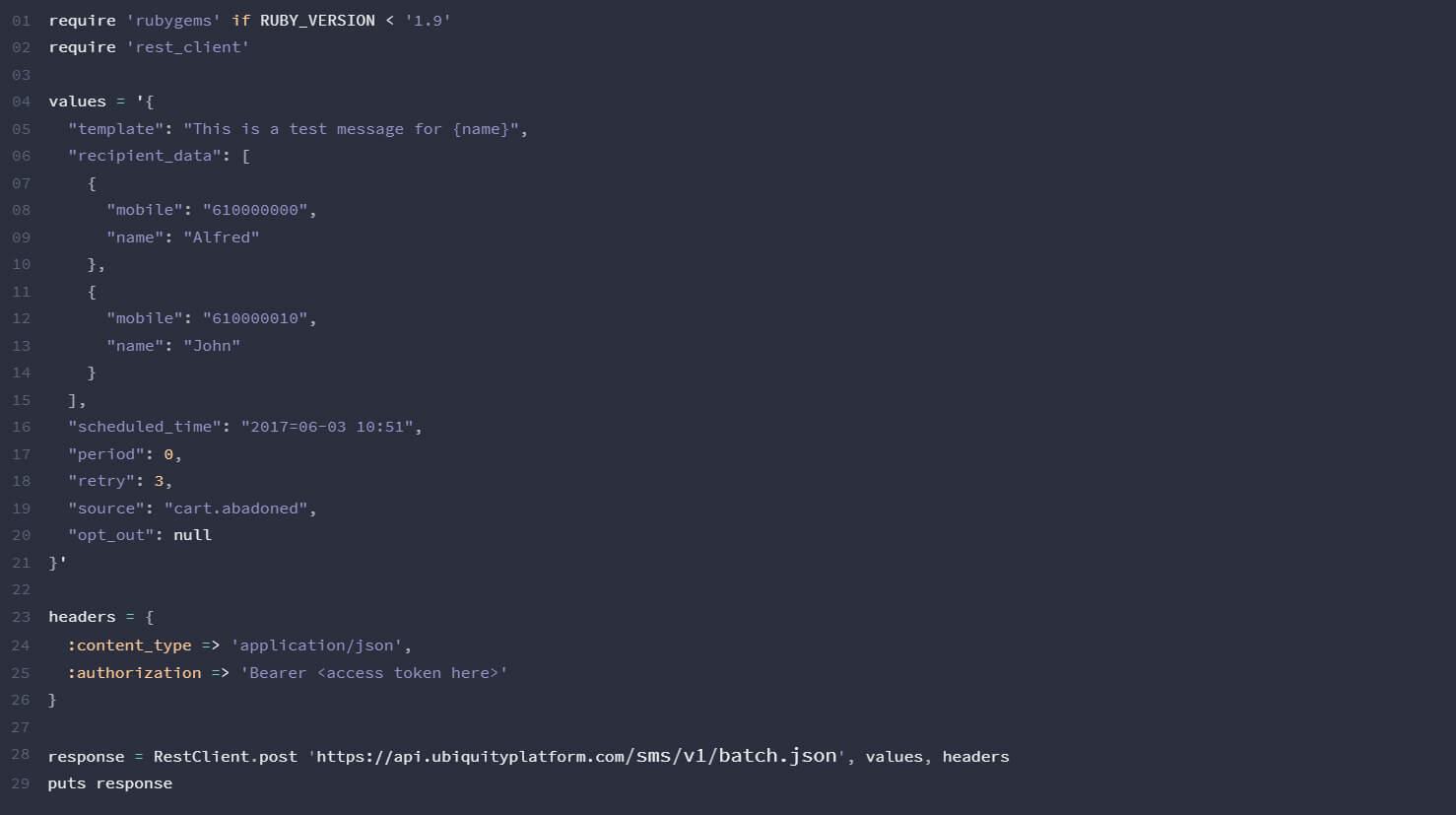 Ruby-SMS-API-Ubiquity-Platform-Gomeeki
